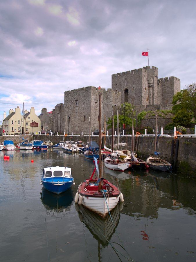 Castle and boats
